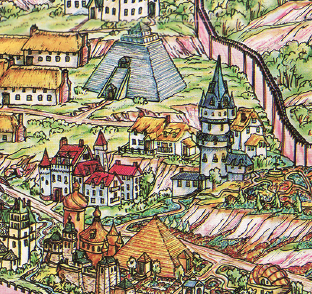 Sample detail on Greyhawk poster